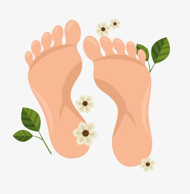 Trattamento spa dei piedi umani Vettore Premium