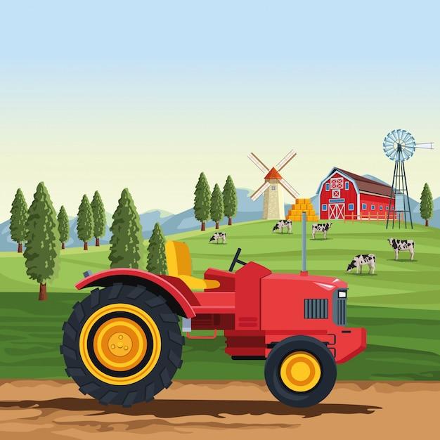 Trattore agricolo Vettore Premium