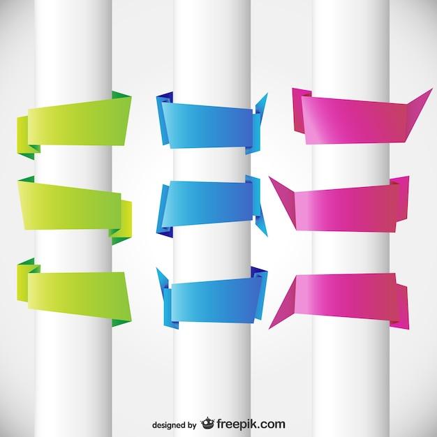 Tre colori origami bandiere bianche scaricare vettori gratis - Bandiere bianche a colori ...