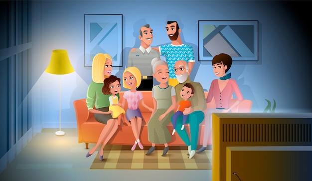 Tre generazioni di grandi famiglie a parlare Vettore Premium