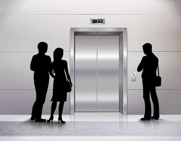 Tre sagome di persone di sesso maschile e femminile in piedi Vettore gratuito