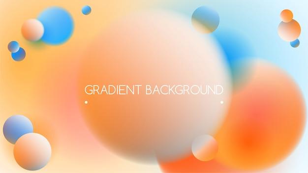 Trendy vibrante sfondo sfumato Vettore Premium
