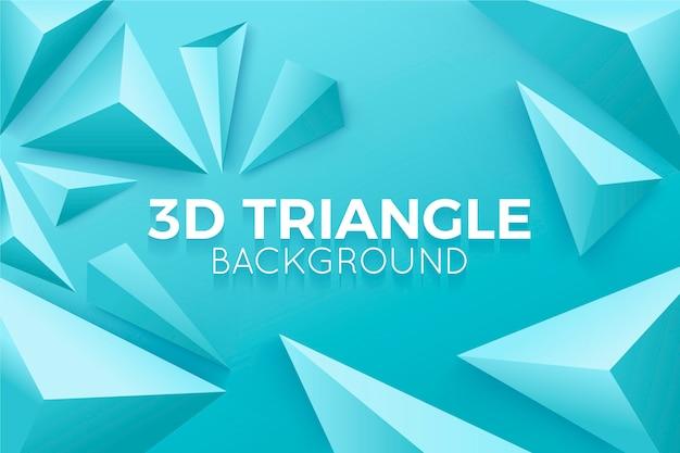Triangoli 3d nel concetto vivo di colori per fondo Vettore gratuito