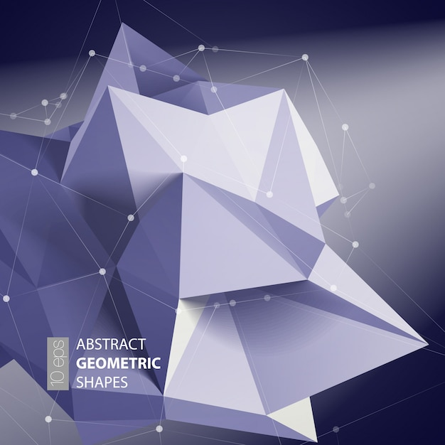Triangoli astratti spazio basso poli. Vettore Premium