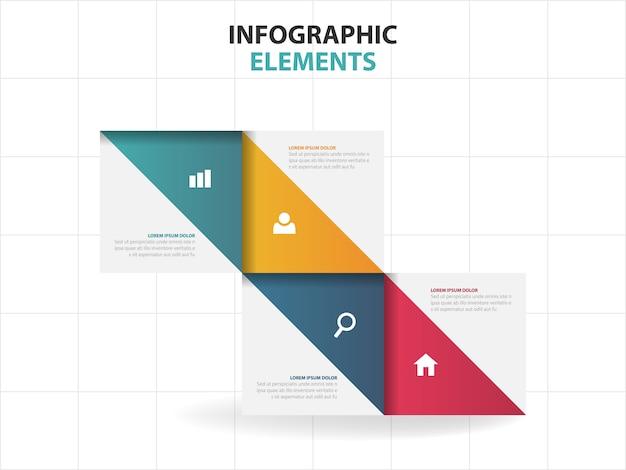 Triangolo affari infografica elementi Vettore Premium