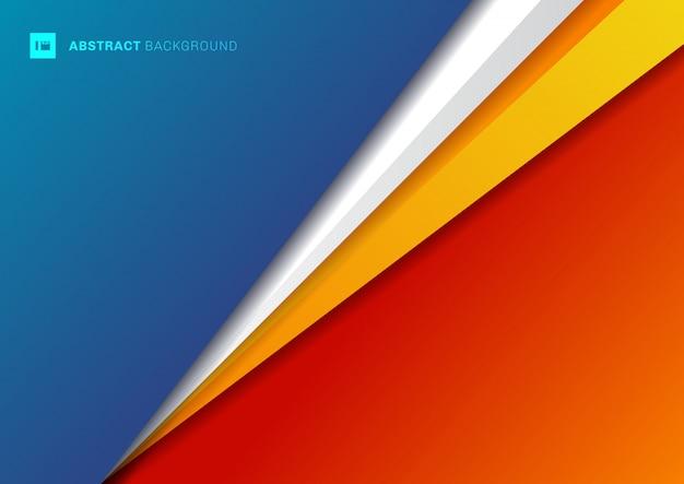 Triangolo geometrico del modello astratto del fondo Vettore Premium