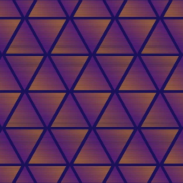 Triangolo gradiente sullo sfondo del modello Vettore gratuito