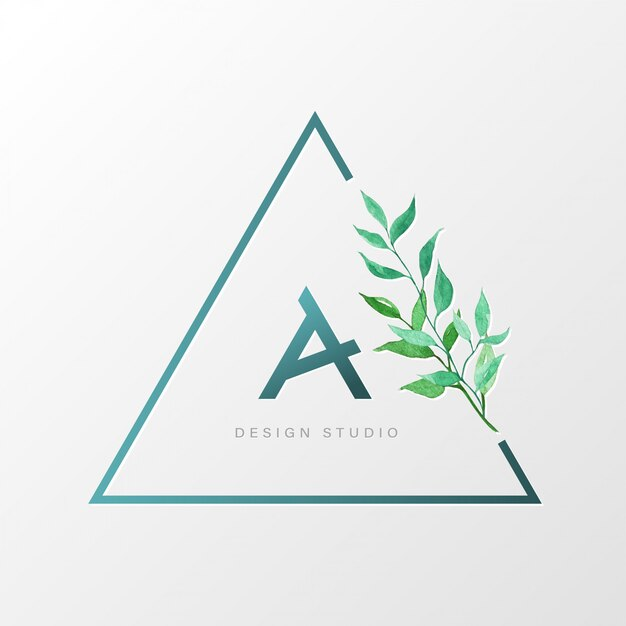 Triangolo modello di progettazione logo naturale per il branding, identità aziendale. Vettore gratuito