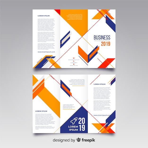 Trifold modello di brochure aziendale Vettore gratuito