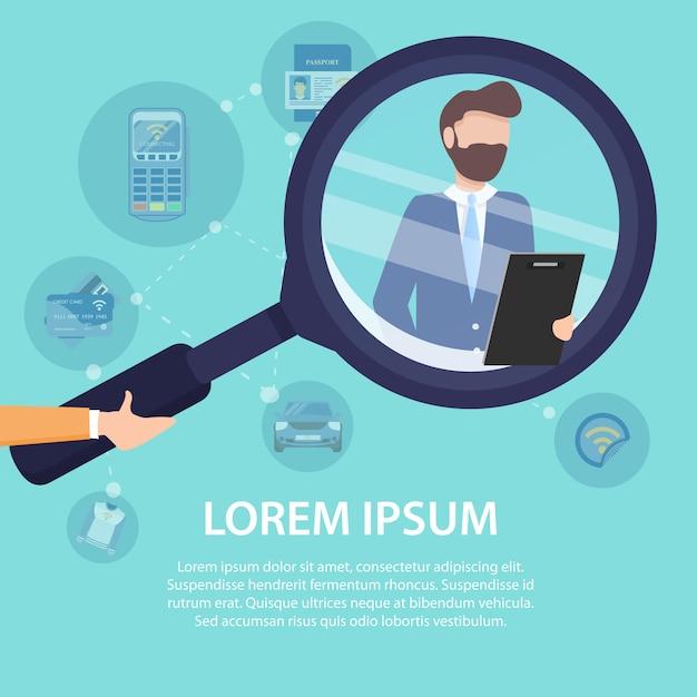 Trova il modello di poster del tuo team aziendale Vettore Premium
