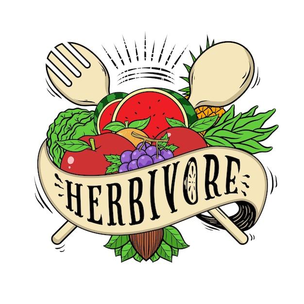 Tshirt di design vegano o vegetariano Vettore Premium