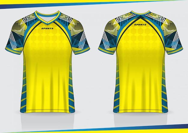 Tshirt sport calcio jersey design modello Vettore Premium