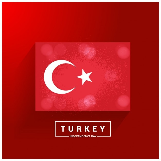 Turchia independence day paese glowing bandiera Vettore gratuito