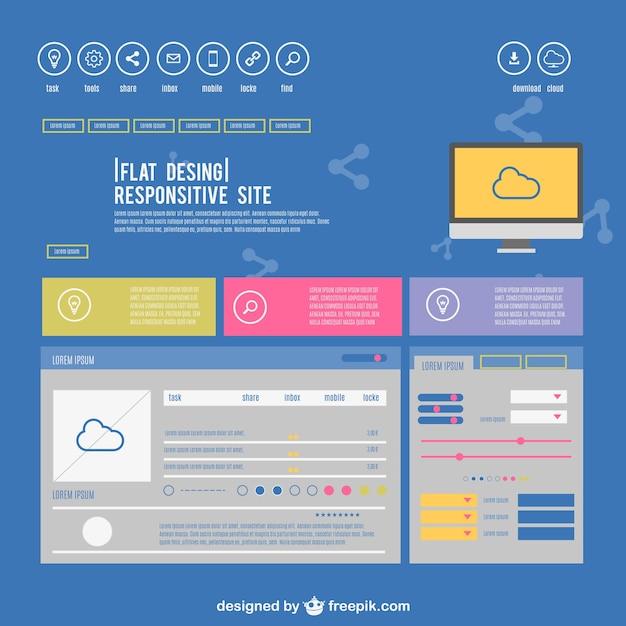 Tv design del sito reattivo scaricare vettori gratis for Design sito