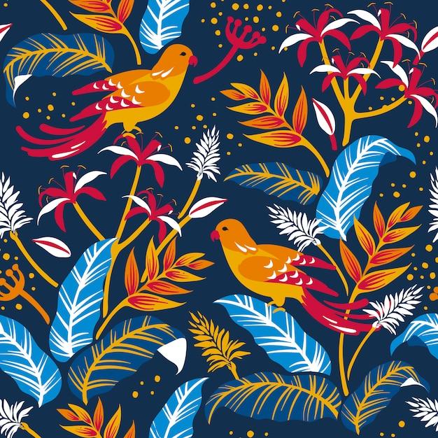 Uccelli nel design della natura Vettore gratuito