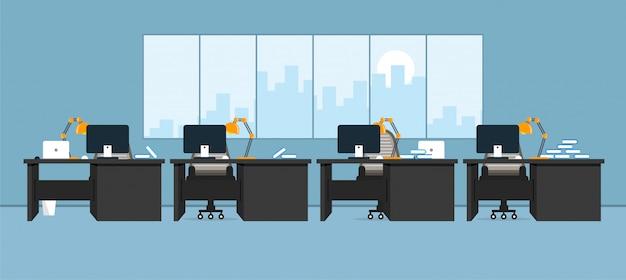 Ufficio di apprendimento e insegnamento a lavorare utilizzando illustrazione vettoriale, programma di progettazione Vettore Premium