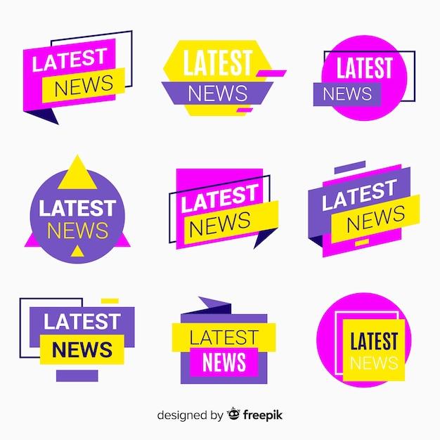 Ultima raccolta di banner di notizie Vettore gratuito
