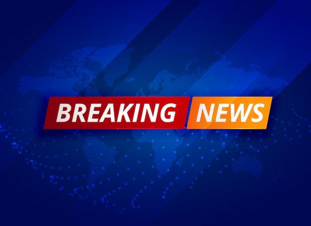 Ultime notizie blu sfondo tv Vettore gratuito