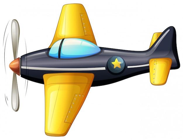 Un aereo d'epoca Vettore gratuito