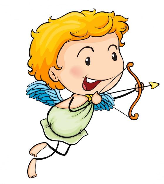 Un angelo Vettore gratuito