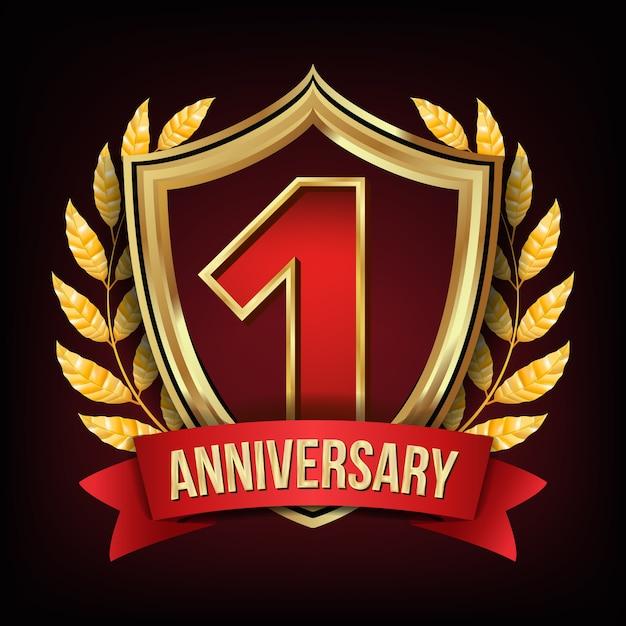 Un anno di anniversario Vettore Premium