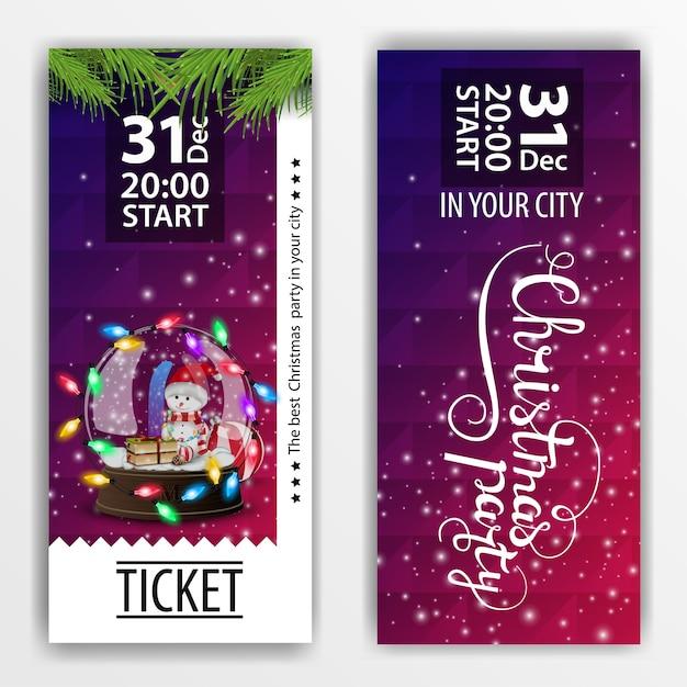 Un biglietto per la festa di natale. design moderno Vettore Premium