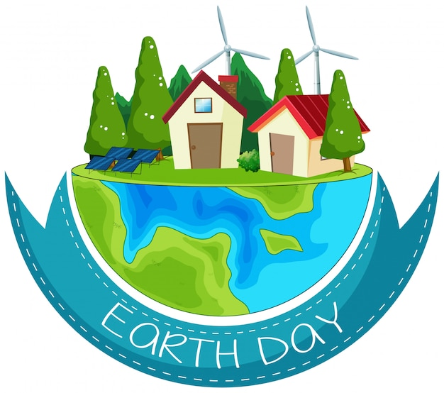Un'icona del giorno della terra Vettore gratuito