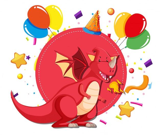 Un modello di drago sul partito Vettore gratuito