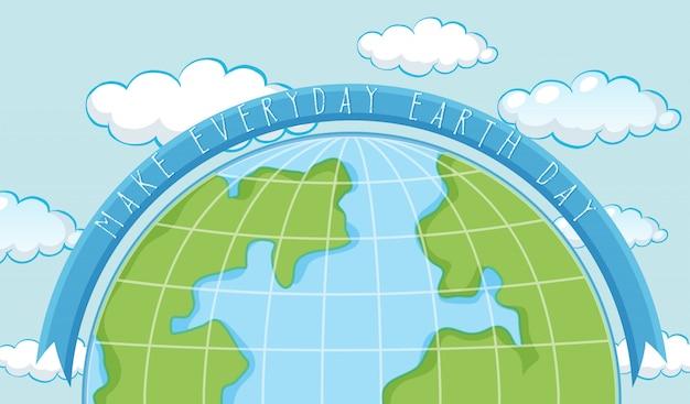 Un modello di giornata terrestre Vettore gratuito