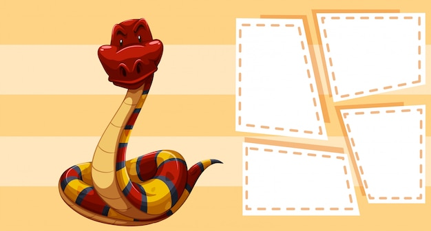 Un modello di serpente in nota Vettore gratuito