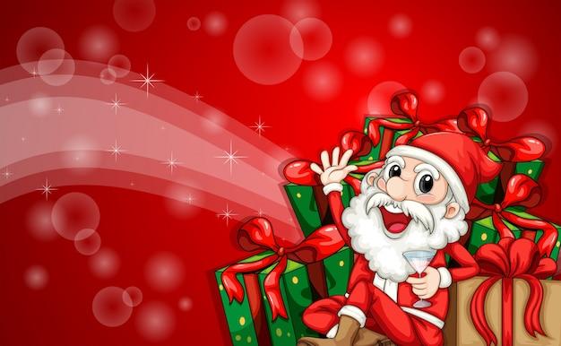 Immagini Di Natale Con Babbo Natale.Un Modello Frizzante Di Natale Con Babbo Natale Scaricare