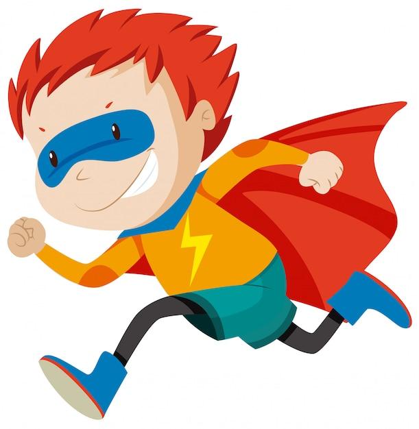 Un personaggio di msle supereroi Vettore gratuito