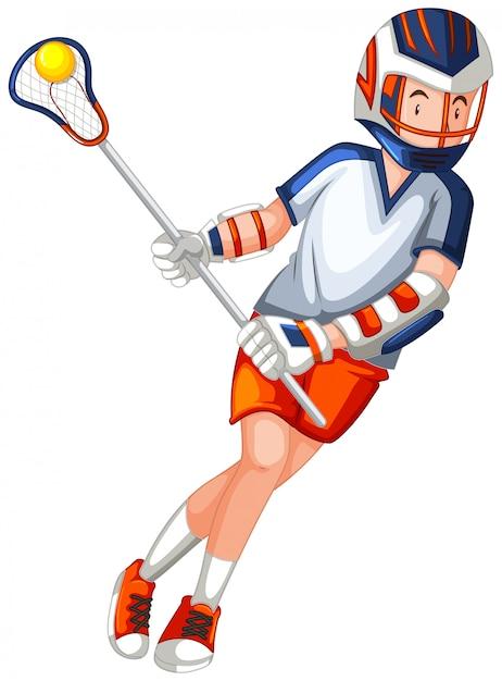 Un personaggio maschile di hockey Vettore gratuito