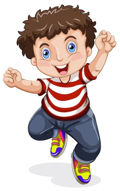 Un personaggio ragazzo felice Vettore gratuito
