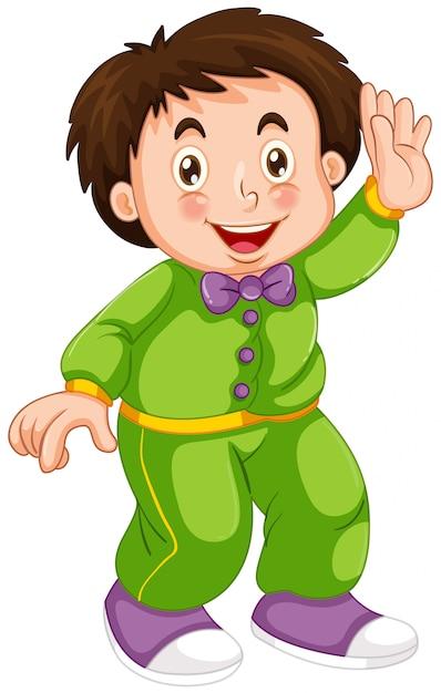 Un ragazzo che indossa un pigiama Vettore gratuito