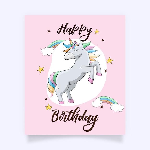 Un simpatico unicorno colorato con accessori incantevoli Vettore Premium