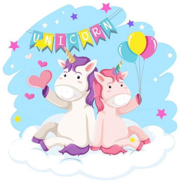 Un unicorno per l'arredamento Vettore gratuito