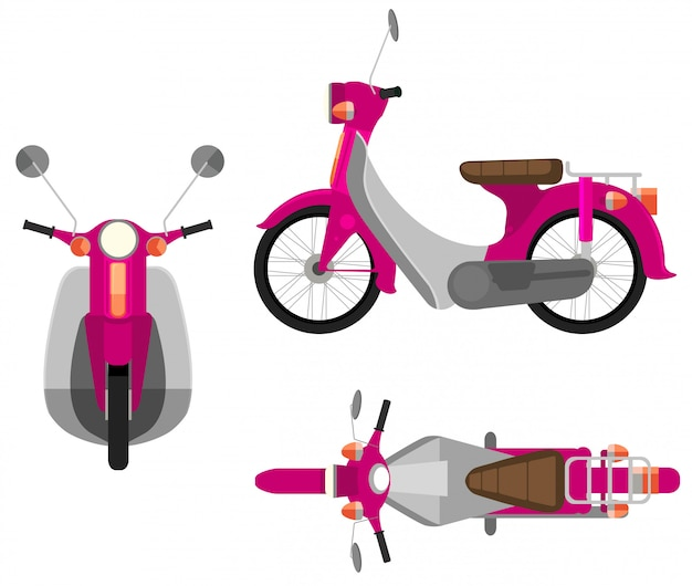 Un veicolo a motore rosa Vettore gratuito
