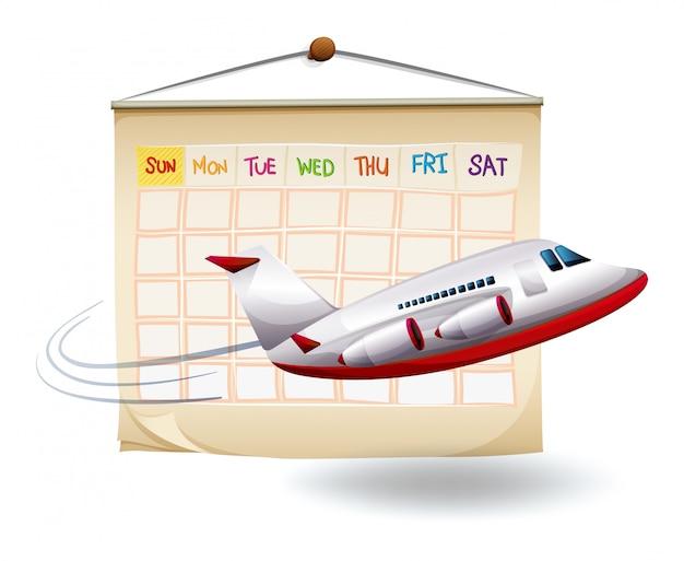 Un viaggio di vacanza programmato Vettore gratuito