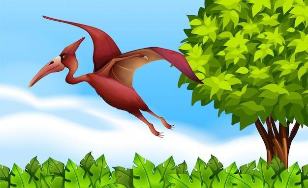 Un volo pterodattilo Vettore gratuito