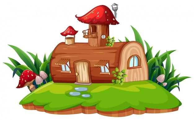 Una casa di fantasia isolata Vettore gratuito