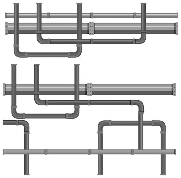 Una mappa dei sistemi di condotte idriche Vettore gratuito