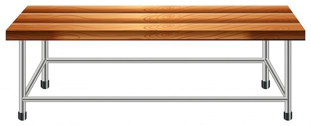 Una panca di legno Vettore gratuito