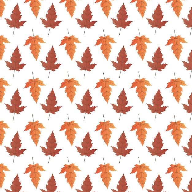 Una priorità bassa artistica di tema astratto di autunno. foglie di autunno su carta bianca. Vettore Premium