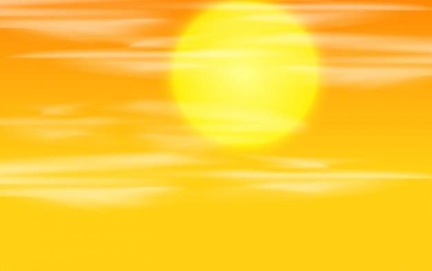 Una priorità bassa del cielo al tramonto Vettore gratuito