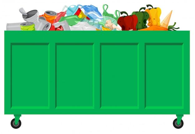 Una raccolta di spazzatura verde Vettore gratuito