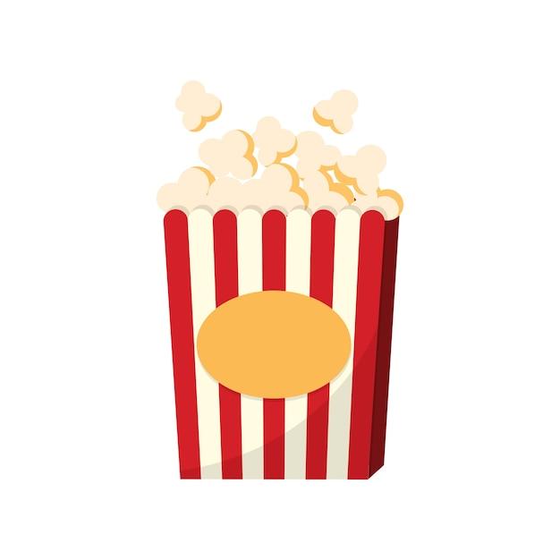 Una tazza di illustrazione grafica popcorn Vettore gratuito