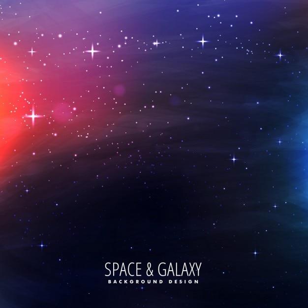 Universo galassia di sfondo Vettore gratuito