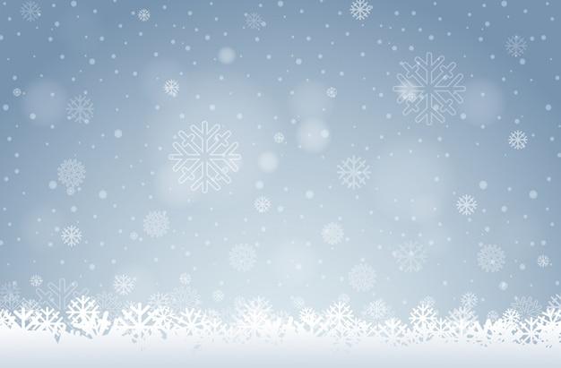 Uno sfondo bianco fiocco di neve Vettore gratuito