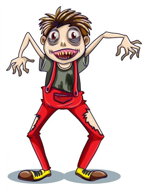 Uno zombi danzante Vettore gratuito